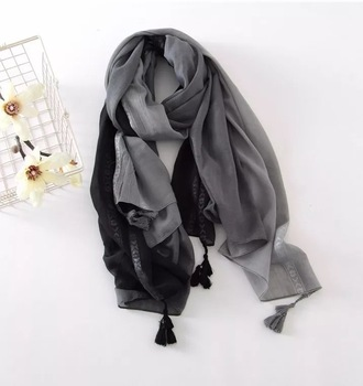 cotton viscose scarf with tassel large size pashmina scarf beach shawls ladies scarf any season