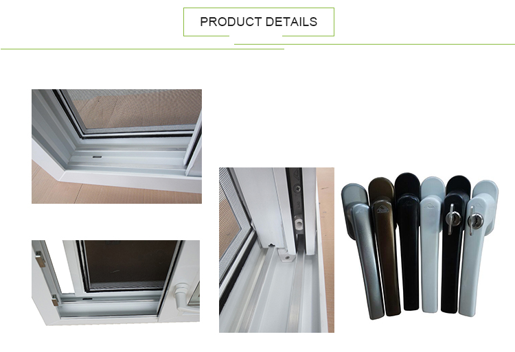 AWA And WERS Certified Double Glaze Upvc Pvc Black Vinyl Bathroom Slide Windows Philippines