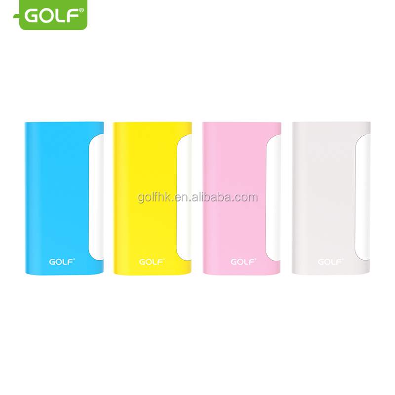 Mobile phone accessory 5000mAh portable power bank charger with LED table lamp