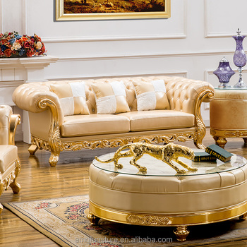 Royal Hand Carved Wooden Sofa Set Designs