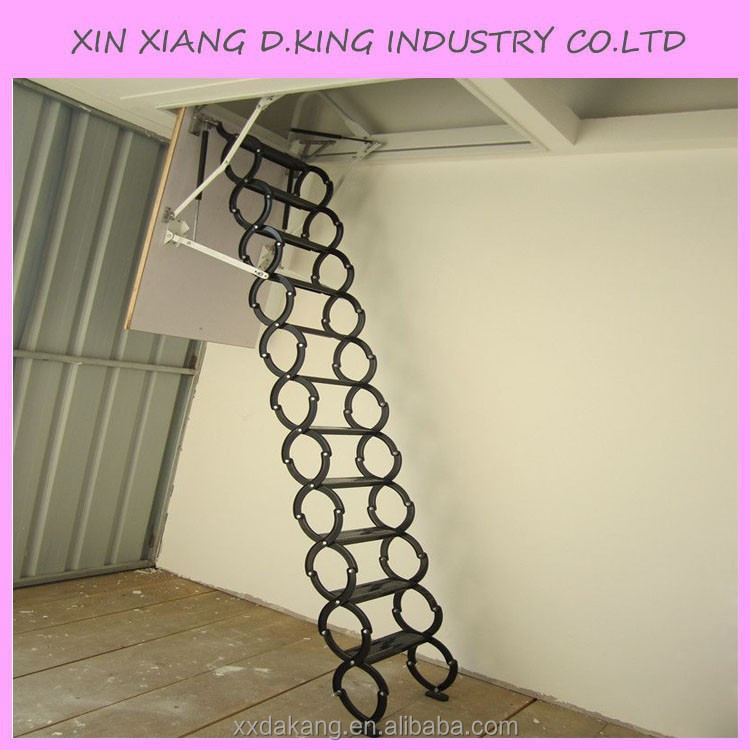 Steel Automatic Electric Telescopic Loft Ladders,Hydraulic Folding Attic  Stairs   Buy Loft Ladder,Telescopic Loft Ladder,Attic Stairs Product On  Alibaba.com