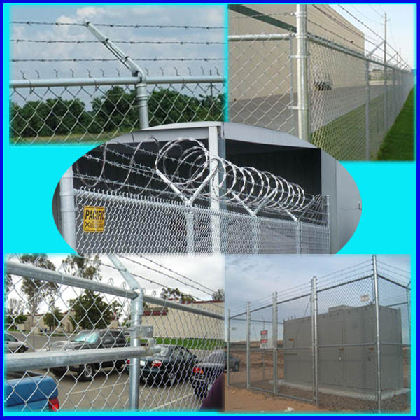 Hot sale Factory producing 50*50 mm used galvanized chain link fence