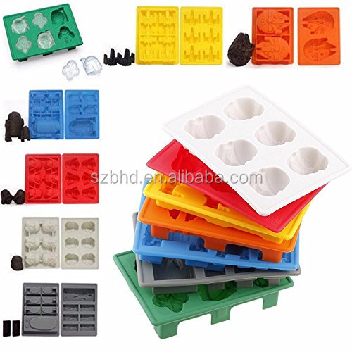 FDA Approved BPA Free Star War Silicone Ice Cube Tray Candy Chocolate Molds