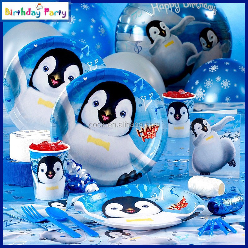 cartoon series penguin themes party supplies/party sets/party favors