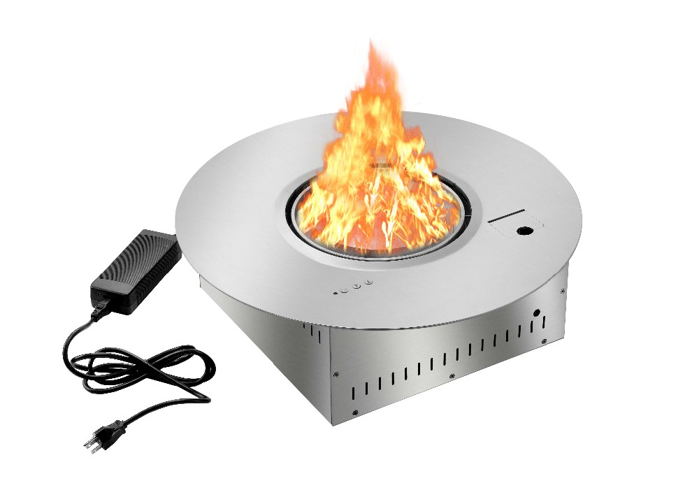 On Sale Electric Round Fireplace Insert With Remote Control