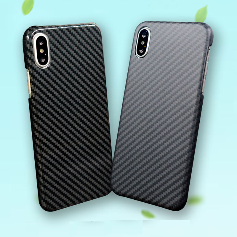 Waterproof Ultra-thin real Aramid Kevlar carbon fiber phone case for Iphone X / 8 / 8 plus