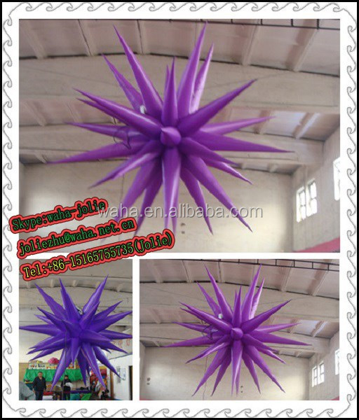 Gorgeous purple lighting inflatable Star for party WH-Ms.Jolie Zhu-0347