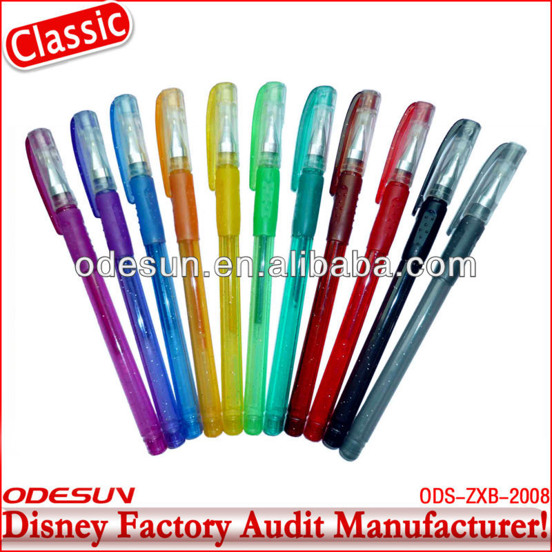 Disney factory audit manufacturer' scented glitter gel pens 142411
