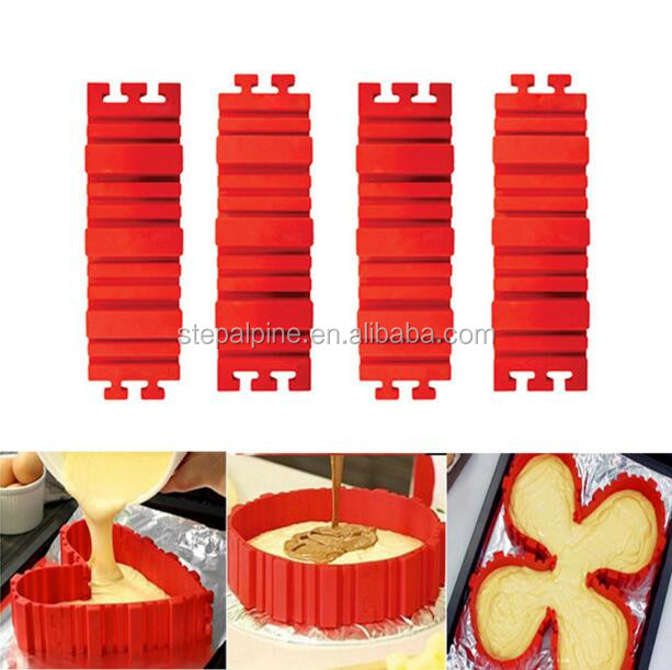 DIY Create Shape Flexible Dessert Silicone Bake Cake Mould 4 Piece of set