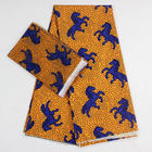 horse design lady fashion african wax printed chiffon fabric silk 6yards