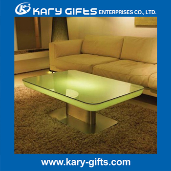 Led Rgb Glow LIGHTED COFFEE TABLE Cafe Bar
