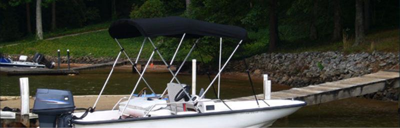 Aluminum Frame Sunbrella Bimini Top Cover Boat Hard Tops