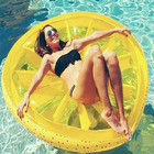 Custom adult swimming floating boat beach fruit mattress bed pvc giant inflatable lemon watermelon pool float