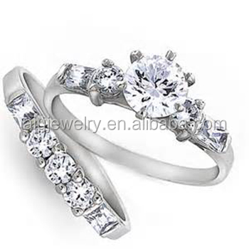 925 sterling silver wedding engagement ring with cz