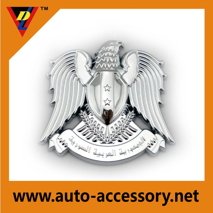 Custom Plastic Chrome Syrial Arabie Eagle Vogel Chinese 3d Auto Logo