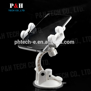 Factory direct supply bendable windshield holder mobile phone sucker tablet display stand for wholesales