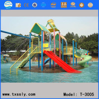 Creative Grand Water House With Plastic Slide,pumping toy