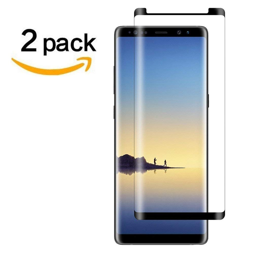 809d78139e8  2Pack  Galaxy Note 8 Screen Protector, Case Friendly  Anti  Scratch  Anti-Bubble  3D Cured Premium Tempered Glass Screen Protector for  Samsung Galaxy Note ...