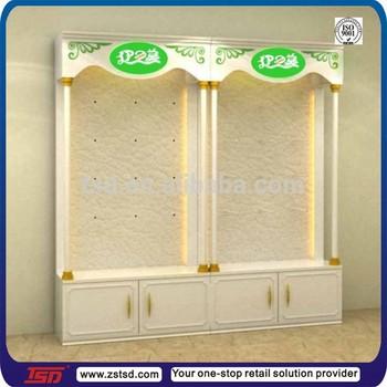 Tsd-w966 Custom Retail Store Wall Tall Wood Display Cabinet ...