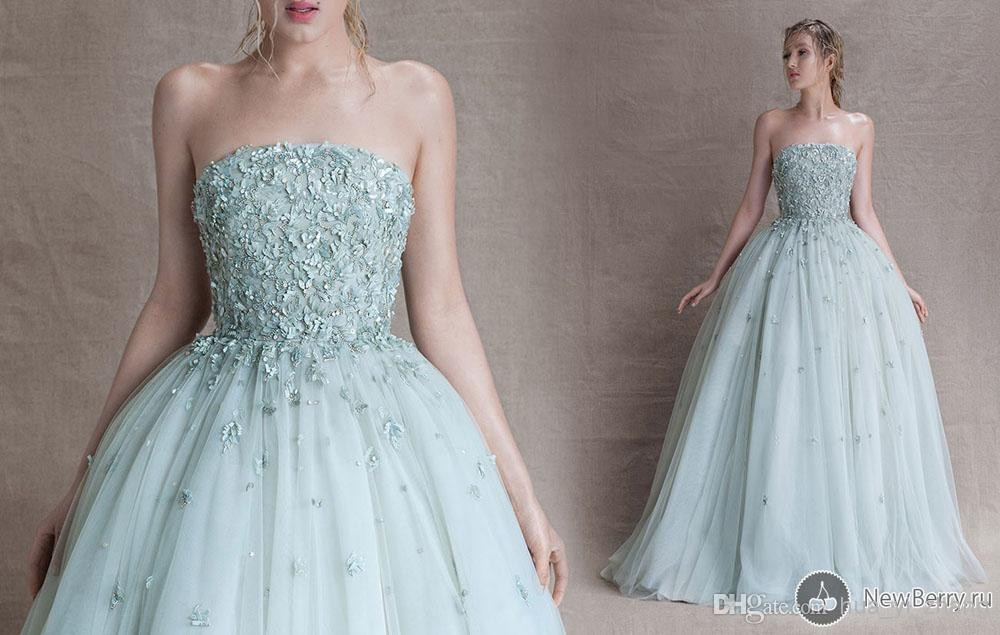 Tulle Ball Gown Wedding Dress: Aliexpress.com : Buy 2015 Paolo Sebastian Prom Dresses