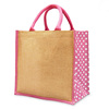 New design Heavy hold support Jute shopping tote bag