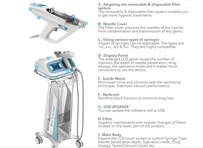 MY-E10 Upgrated Vital Injector II 2016 latest 2nd generation vital injector 2 beauty machine