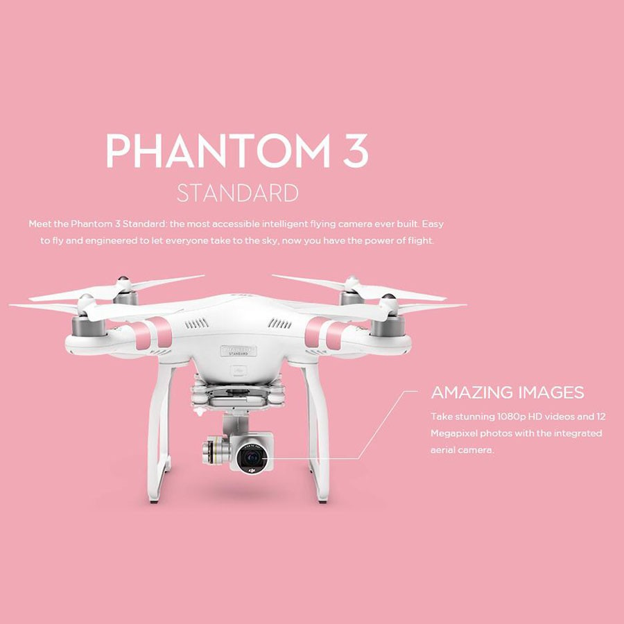 Original DJI Phantom 3 Standard,Advanced, Professional Version Drones, Drone with Camera for Aerial Photography