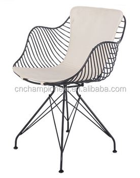 Modern Metal Wire Chair, American Style Arrow Dining Chair