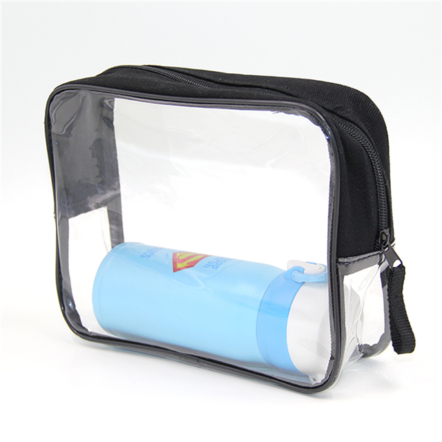 Hot sale waterproof pvc zipper transparent clear pvc tote bag