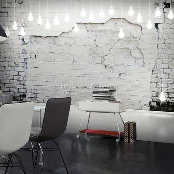 3d Brique De Papier Peint Blanc Murs Et Motif De Papier Peint Retro