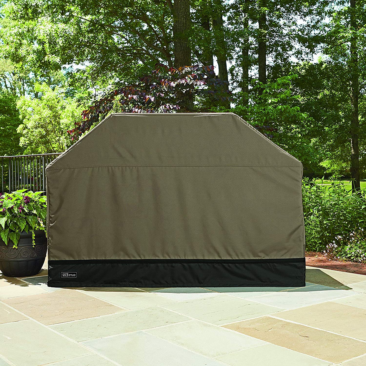 Ln 1 Piece Taupe Gray Outdoor Camping Grill Cover Waterproof 70 Inch, Water Repellent BBQ Cover Large Durable Patio Barbecue Cover Heavy Duty Material Specially Engineered Coating, Polyester