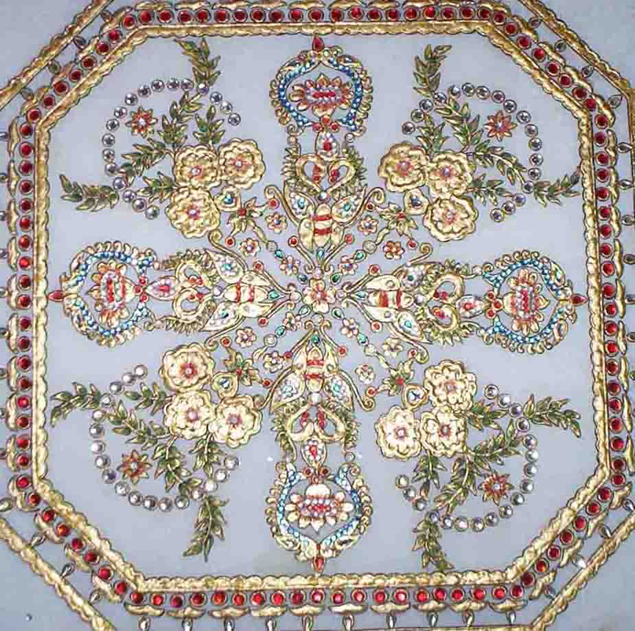 Marble table top - Marble Table Top With 23k Gold Work Buy Marble Table Top Product On Alibaba Com