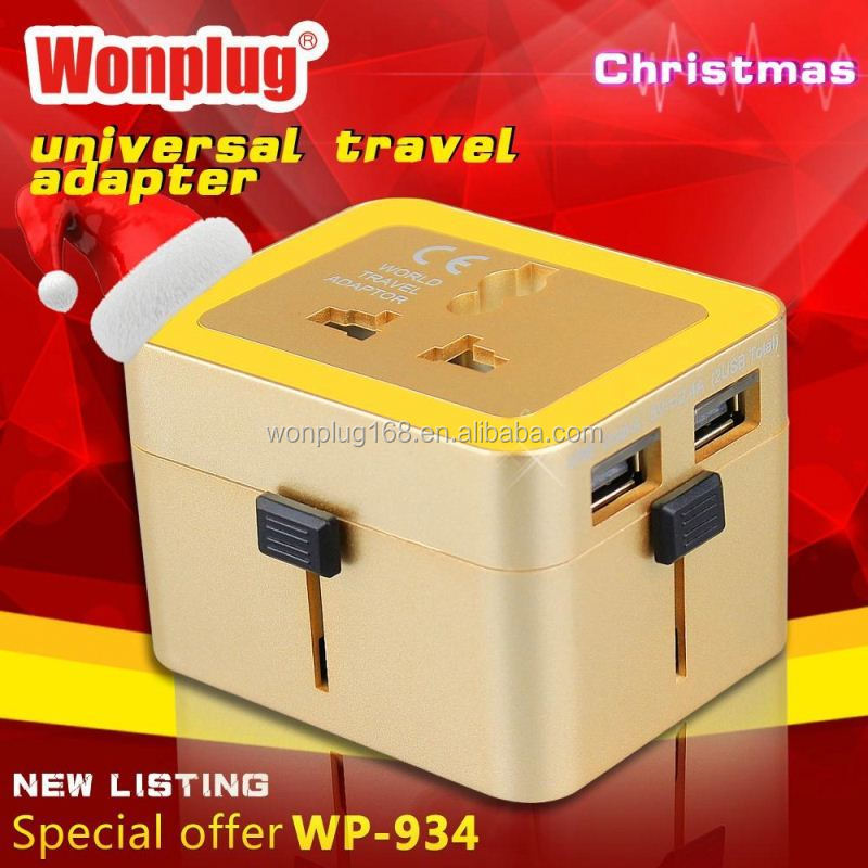 2014 top sale high quality world travel adapter 2013 executive gifts ideas