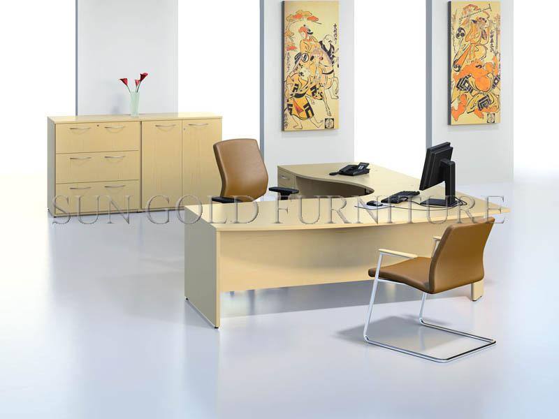 Mode hoek kantoor meubels, hete verkoop kantoor tafel, goedkope l vorm bureau( sz  od076