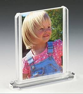 Fixture Displays 4 of unit 4 x 6 Acrylic Sign Holder for Tabletop Use, Double-sided, Top Insert - Clear 19017 19017