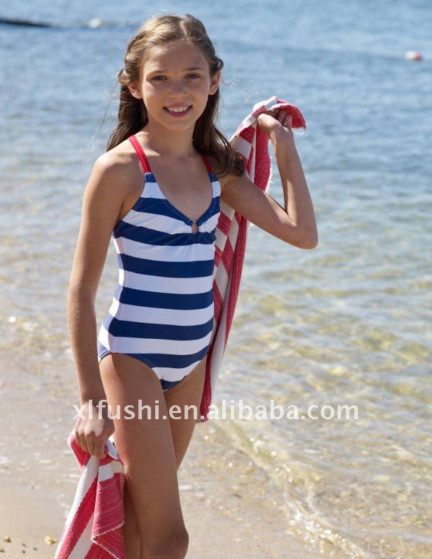 Good young teen girl one piece swimsuit sorry
