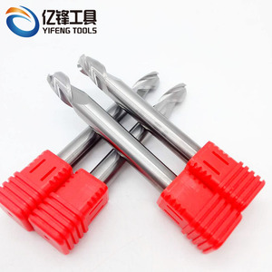 Non-standard 3 Flute Ball Nose End Mills Carbide Polished Endmills