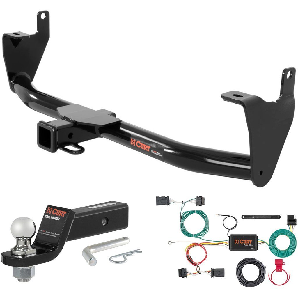 """CURT Class 3 Trailer Hitch Tow Package with 1-7/8"""" Ball for 2016 Fiat 500X"""