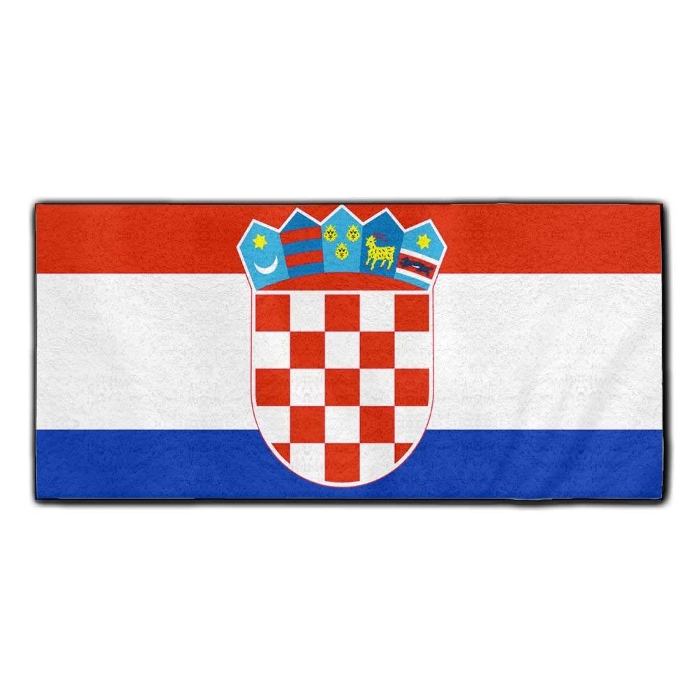 ChunLei Croatian Flag Washcloths Face Towel Hair Care Towel Gym And Spa Towel Kitchen Dish Towel