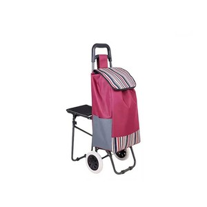 Portable and Folding 2 Wheels Shopping Trolley Carts