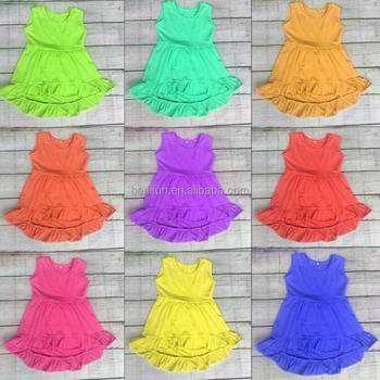 Wholesale Baby Girls High Low Tunic Tank Top Kids Ruffled Sleeveless Hi Lo  Plus Size Tank Tops Dresses Molly Cotton Dresses - Buy High Low Tops,High  ...