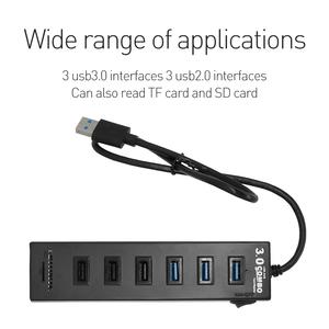 L-CUBIC USB HUB 3.0 6 Port Portable Micro USB 3.0 HUB Splitter For Computer High Speed USB Splitter HUB