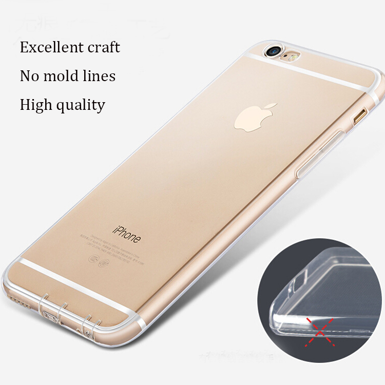 DFIFAN Shenzhen Crystal Clear Cases for iphone 6s Mobile Phone TPU Mobile Phone Case for iphone 6 Case Plain Cover for apple 6s