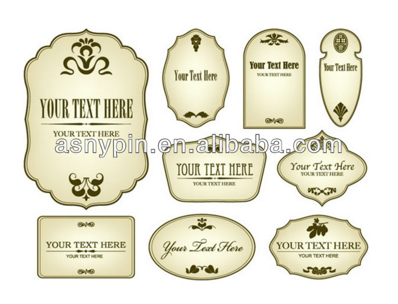 free engraving metal label tag for wine bottles