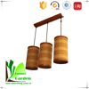 Natural Classic Brown Bamboo Antique Hanging Lamp