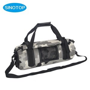 Camouflage Fashion PVC Tarpaulin outdoor waterproof travel dry bag with mesh for camping