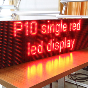 Wireless Single Color P10 Display Screen / Video Small Led Board
