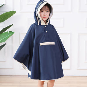 Japanese children's raincoat kindergarten fashion primary school students wearing a large brim cape cape boys and girls with thi