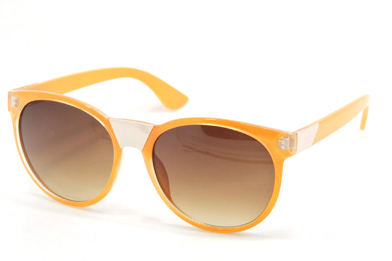 Orange frame eye ware sunglasses lady star style customize glasses sun protect YJ-JE108