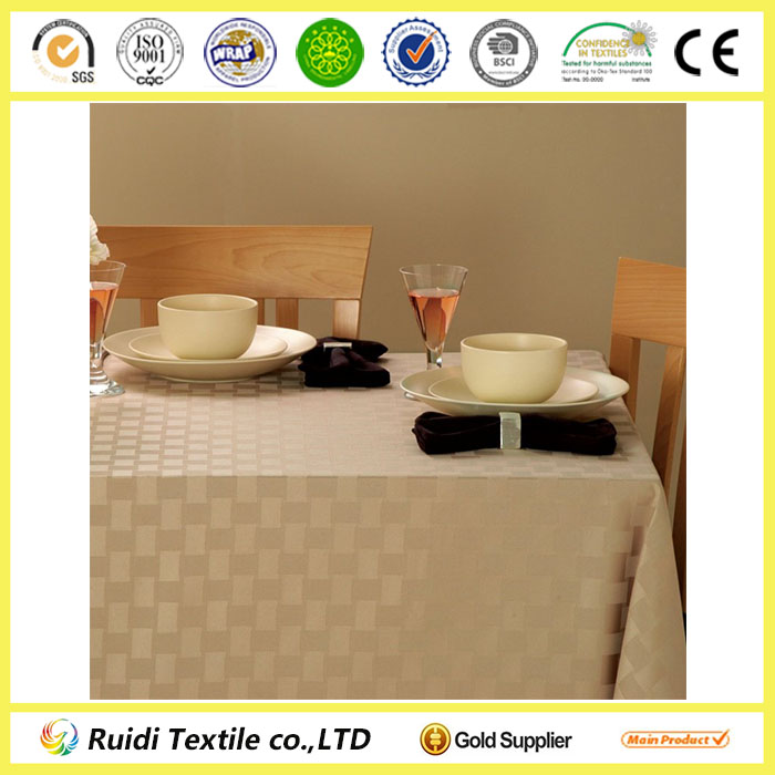 100% Polyester Microfiber Weave Design Waterproof Dining Table Cloth
